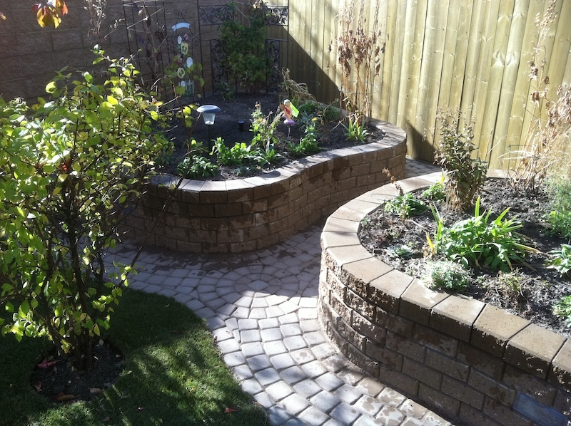 Raised Garden beds and Paving stone