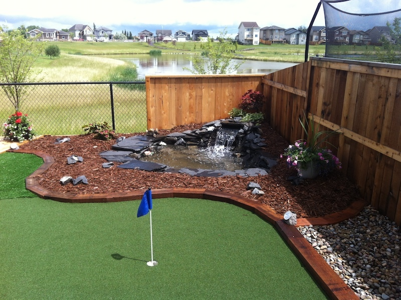 Water Feature and putting green